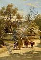 CHARLES LANDELLE (Laval, 1812 - 1908) LE RETOUR AU VILLAGE, 1881