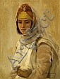 ¤GASTON CASIMIR SAINTPIERRE (Nîmes, 1833 - Paris, 1916) PORTRAIT D'UNE JEUNE FEMME Huile sur toile, Gaston Casimir Saint-Pierre, Click for value