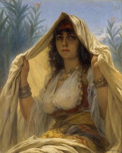 ¤GASTON CASIMIR SAINTPIERRE (Nîmes, 1833 - Paris, 1916) L'ATTENTE AU RENDEZ-VOUS Huile sur toile