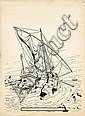 MARTIN Jacques (1921 - 2010) ALIX Encre de Chine pour la couverture de l'édition française du journal Tintin n°145 daté du 2 ao..., Jacques (1921) Martin, Click for value