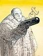 MOEBIUS Jean Giraud dit (né en 1938) SANS TITRE Encre de Chine et gouache de couleur pour une illustration réalisée à l'occasi..., Jean (1938) Giraud, Click for value