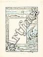 RABIER Benjamin (1864 - 1939) FABLES DE FLORIAN Encre de Chine et aquarelle bleue pour une planche intitulée «Le crocodile et..., Benjamin Armand Rabier, Click for value