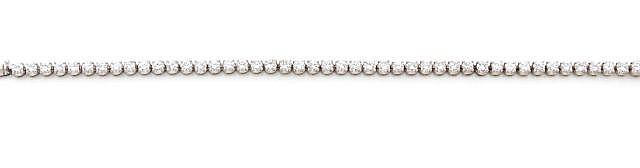A DIAMOND AND WHITE GOLD BRACELET