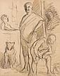 Maximilien LUCE (Paris, 1858 - Paris, 1941) ETUDE POUR LES SALTIMBANQUES Lavis, encre et crayon sur papier