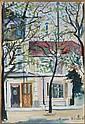 Maurice UTRILLO (Paris, 1883 - Dax, 1955) COIN DE PARIS Gouache sur papier