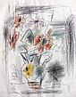 GEN PAUL (Paris, 1895 - Paris, 1975) BOUQUET D'ANEMONES Crayons de couleur et mine de plomb sur papier
