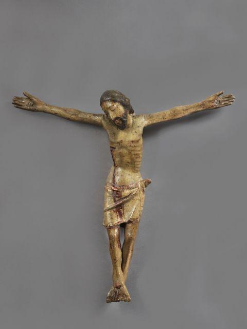 Ateliers d''Italie Centrale, XVe siècle Corpus Christi Statuette en bois polychrome