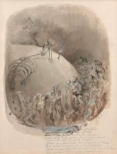 Gustave Doré Strasbourg, 1832 - Paris, 1883 Recto : La Danse macabre ; Verso : Hamlet Plume et encre de chine, lavis brun et rehauts...