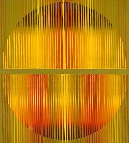 Leopoldo TORRES AGUERO (1924-1995) COMPOSITION ORANGE, 1990 Acrylique sur toile