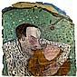 Jean-Charles BLAIS (né en 1956) BAISER VOLE, 1982 Technique mixte et dessin sur arrachage d'affiches sur carton kraft, Jean-Charles Blais, Click for value
