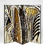 Gérard TITUS-CARMEL (né en 1942) PALME CONTRE PALME, 1990 Paravent (4 panneaux), sérigraphie sur chêne teinté et vernis bordé d'un j.., Gerard Titus-Carmel, Click for value