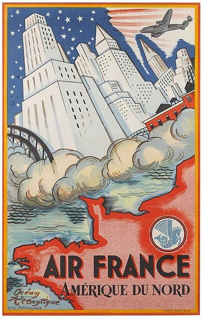 Guy ARNOUX (1886- 1951) Air France - Amérique du Nord