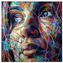 David WALKER Né en 1976 HANNAH - 2014 Peinture aérosol sur toile