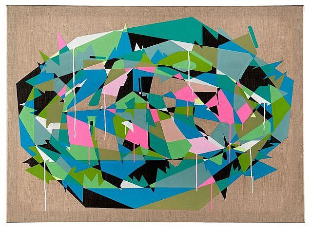 ZEKY Né en 1975 SANS TITRE - 2014 Acrylique sur toile