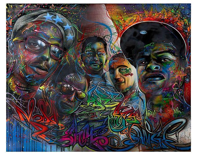 BANGA Né en 1970 PORTRAITS - 2014 Peinture aérosol et acrylique sur toile