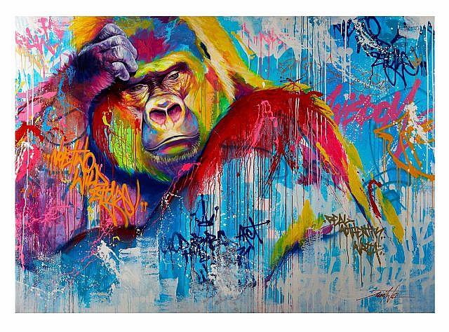 NOE TWO Né en 1974 YAOUNDE THE LAST THOUGHT - 2014 Peinture aérosol, acrylique et marqueur sur toile