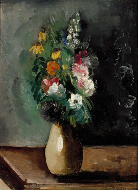 maurice de vlaminck 1876 1958 fleurs dans un vase huile su. Black Bedroom Furniture Sets. Home Design Ideas