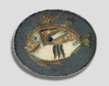 Pablo PICASSO 1881 - 1973 Poisson chiné- 1970 (A.R # 170 - G.R # 29) Plat ovale