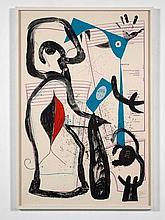 Joan MIRO (1893 - 1983) L''Essayage - 1969