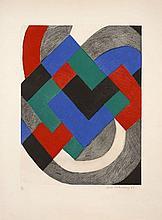 Sonia DELAUNAY (1885 -1979) Composition - 1968