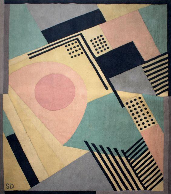 d''après Sonia DELAUNAY 1885 - 1979 1930 - Circa 1975 Tapis en velours pure laine vierge
