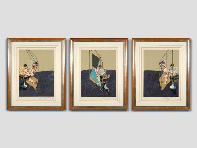 Francis BACON (1909-1992) Trois études de dos d''homme - 1987