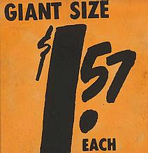 Andy WARHOL (1928 - 1987) $ 1.57 Giant Size - 1963