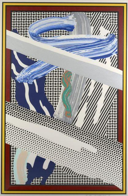 Roy LICHTENSTEIN (1923 - 1997) Reflections on expressionist painting - 1990