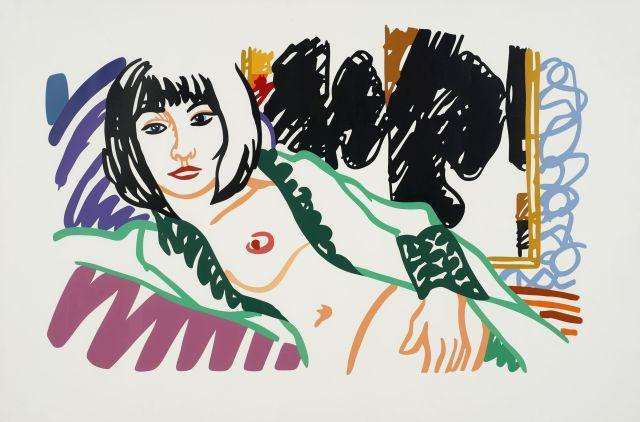 Tom WESSELMANN 1931 - 2004 Monica in Robe with Motherwell - 1994