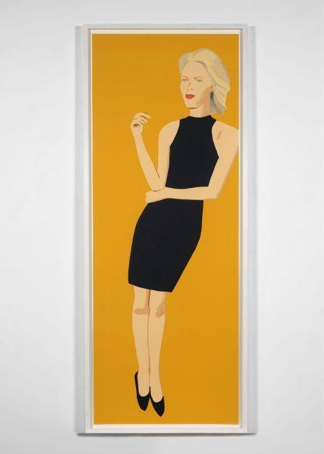 Alex KATZ (né en 1927) Black dress (Ruth) - 2015