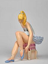 Jeff KOONS Né en 1955 Seated Ballerina (wood) - 2015 Bois peint