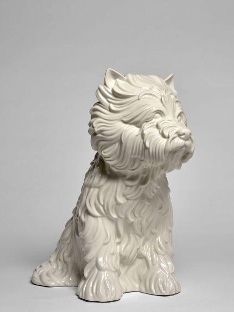 Jeff KOONS Né en 1955 Puppy (vase) - 1998 Céramique émaillée blanc