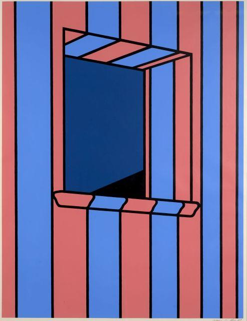 Patrick CAULFIELD 1936 - 2005 Window at Night - 1972