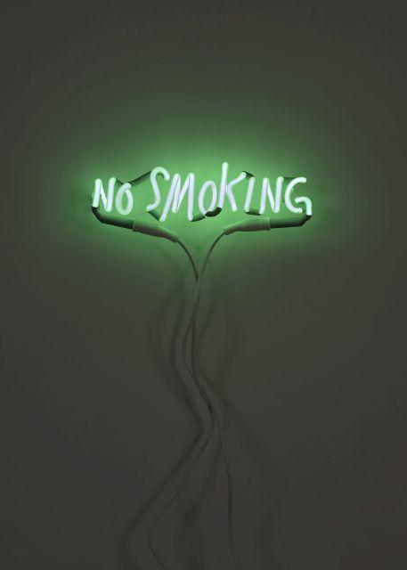 Adel ABDESSEMED Né en 1971 No smoking - 2012 Néon