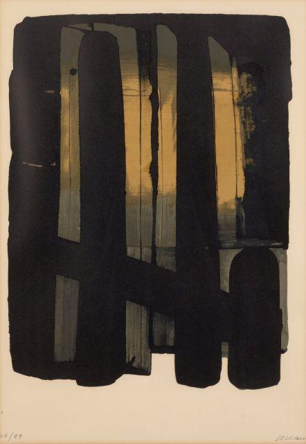 Pierre SOULAGES Né en 1919 Lithographie 38 - 1975