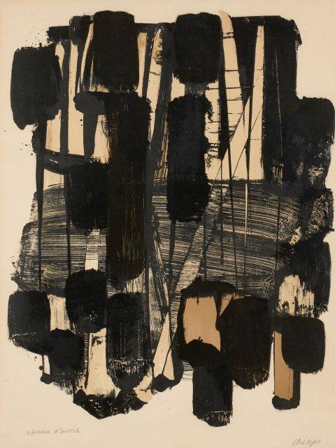 Pierre SOULAGES Né en 1919 Lithographie 11 - 1963