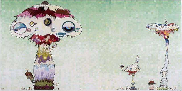 Takashi MURAKAMI Né en 1962 Hypha will cover the world little by little - 2007