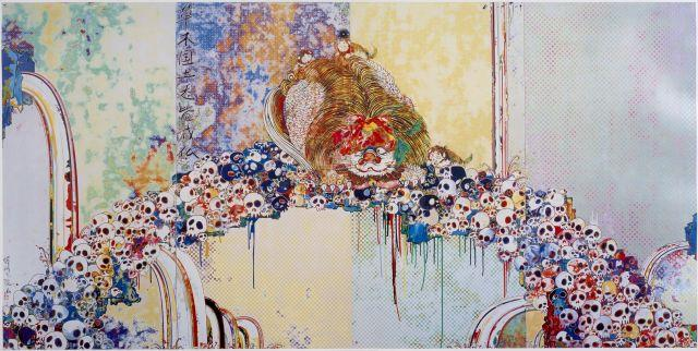 Takashi MURAKAMI Né en 1962 A picture of the Blessed Lion who stares at Death - 2009