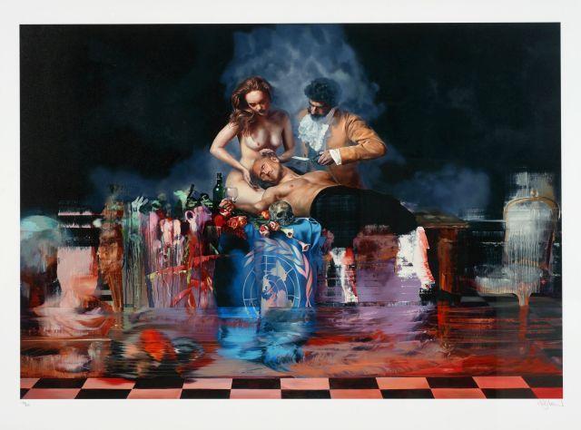 Conor HARRINGTON Né en 1980 Samson''s nostalgia trap - 2014 Sérigraphie en couleurs