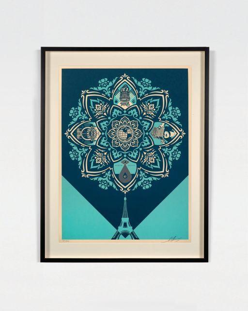 Shepard FAIREY (Alias OBEY GIANT) Né en 1970 A delicate balance - 2015 Sérigraphie en couleurs