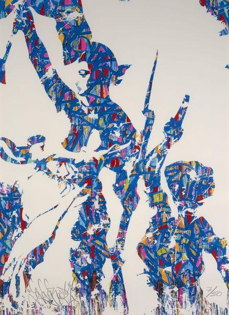 JONONE (John Perello dit) Né en 1963 Liberté - Egalité - Fraternité - 2015 Sérigraphie en couleurs