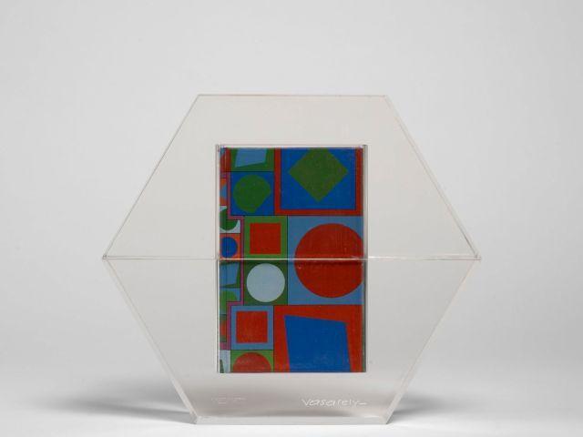 Victor VASARELY 1906 - 1997 Hexagone - 1988