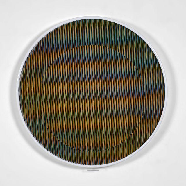Carlos CRUZ-DIEZ Né en 1923 Chromointerference manipulable circulaire B - 2013 Plexiglass et PVC