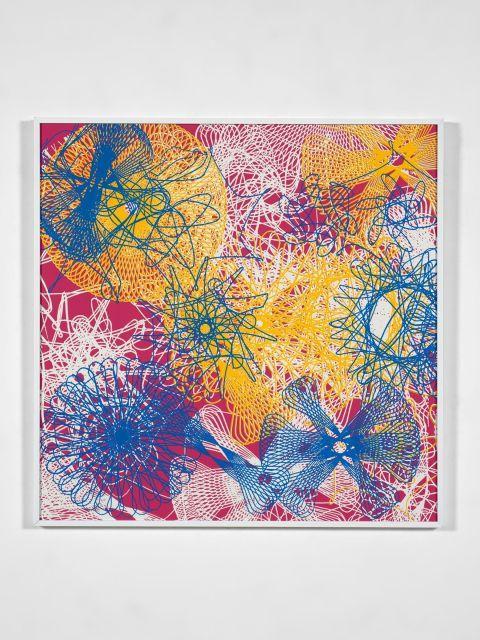 John ARMLEDER (Né en 1948) Sans titre (Spyrographe n 1 - 3 couleurs) - 1998