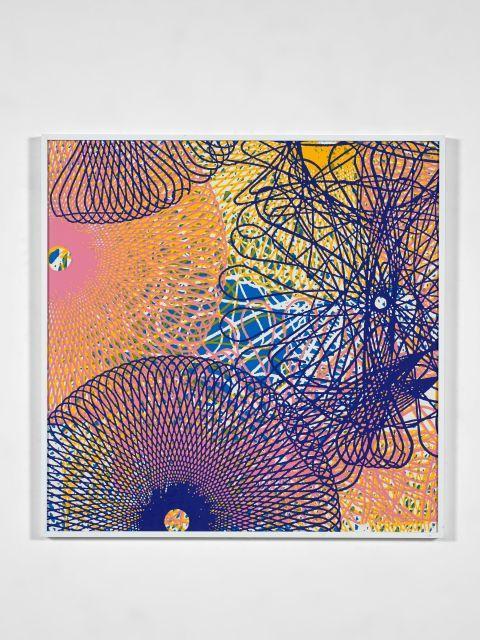 John ARMLEDER (Né en 1948) Sans titre (Spyrographe n 1 - 4 couleurs) - 1998