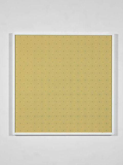 John ARMLEDER (Né en 1948) Sans titre (damiers aux cercles concentriques) - 1998