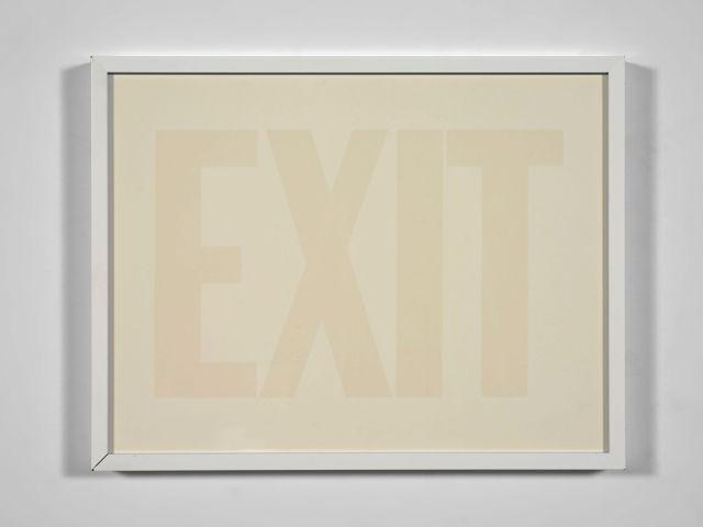 Olivier MOSSET (Né en 1944) Exit (blanc) - 1998