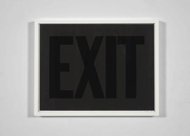 Olivier MOSSET (Né en 1944) Exit (noir) - 1998