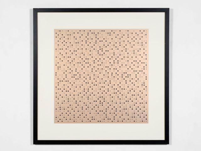 John ARMLEDER (Né en 1948) Sans titre (petits points aléatoires) - 1994