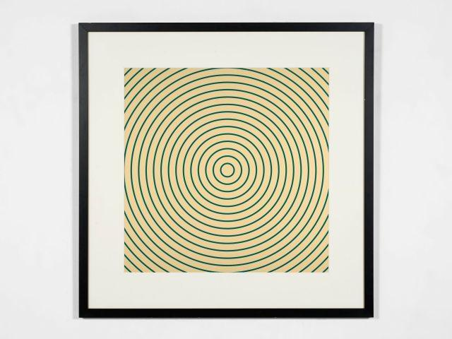 John ARMLEDER (Né en 1948) Sans titre (cercles jaune et vert) - 1998